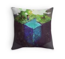 Fishing for blocks Throw Pillow