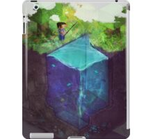 Fishing for blocks iPad Case/Skin