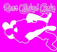 Rear Naked Choke Mixed Martial Arts White  by yin888