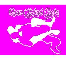 Rear Naked Choke Mixed Martial Arts White  Photographic Print
