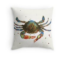 Cranky Crab Throw Pillow