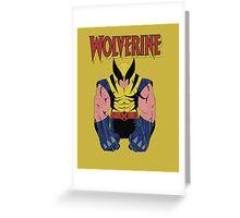 Wolverine X men Greeting Card
