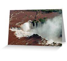 Foz do Iguazu from above Greeting Card