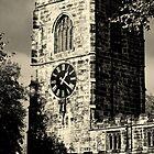Clock Tower at Skipton Church by Stan Owen