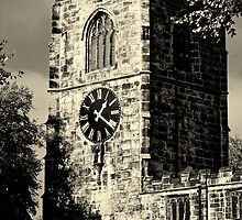 Clock Tower at Skipton Church by Stan Owen