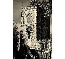 Clock Tower at Skipton Church Photographic Print