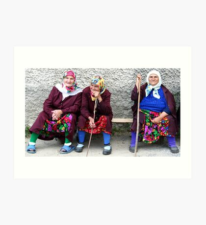 Pomac women in traditional dress Art Print