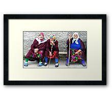 Pomac women in traditional dress Framed Print