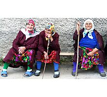 Pomac women in traditional dress Photographic Print