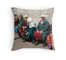 Pomac women in traditional dress Throw Pillow