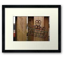 Wire Basket Framed Print