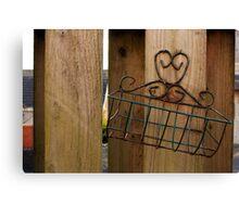 Wire Basket Canvas Print