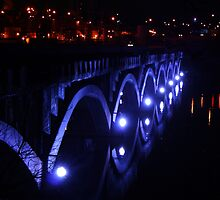 Bridge in Blue - Historic 10th Street Bridge by Shot By Micheal