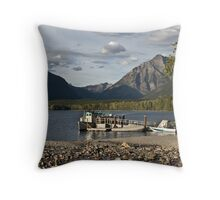 The DeSmet At Dock - Glacier National Park Throw Pillow
