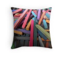 Pastel sticks Horizontal Throw Pillow