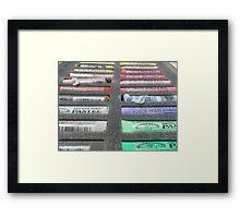 Art materials...pastel box Framed Print