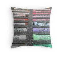 Art materials...pastel box Throw Pillow