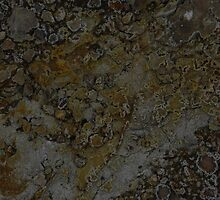 mineral painting - edge of a fumorole (no 2)  by Tomasz Ciolek
