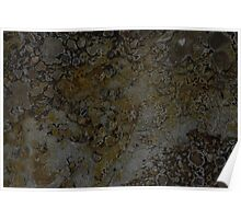 mineral painting - edge of a fumorole (no 2)  Poster