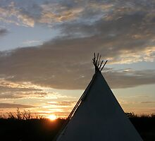 Sunset Teepee  by kellypea