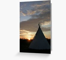Sunset Teepee  Greeting Card