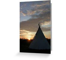 Sunset Teepee  Greeting Card