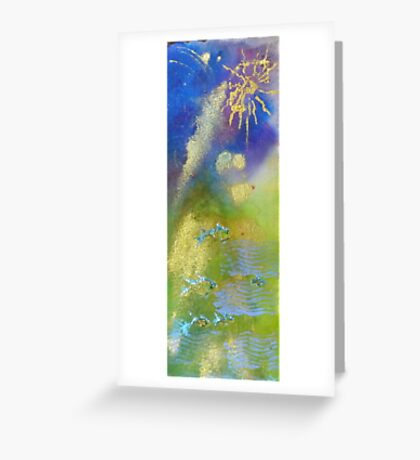 Swim Away In A Green Sea Greeting Card