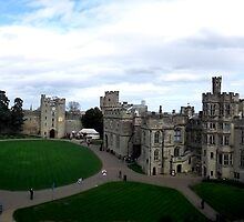 Panoramic view of Warwick Castle UK by Bernie Stronner