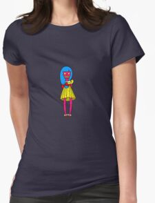 Cute Little Skull Girly Womens Fitted T-Shirt