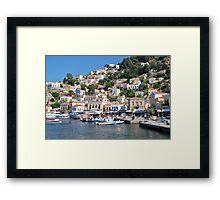 Yialos harbour, Symi island Framed Print
