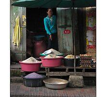 Rice Shop - Luang Prabang, Laos - Poster by fotinos