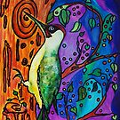 Yaffle - The Green Woodpecker by Robin Monroe