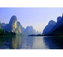 Li River, China Subject: Landscape, river, Guilin Photographic Print