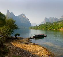 Li River, China - Fine Art Poster - Landscape by fotinos