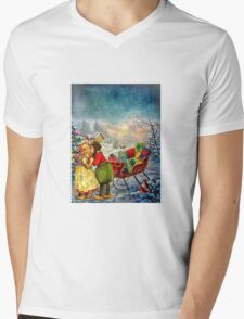 CHRISTMAS LOVE Mens V-Neck T-Shirt