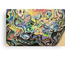 The colours of the paua shell Canvas Print
