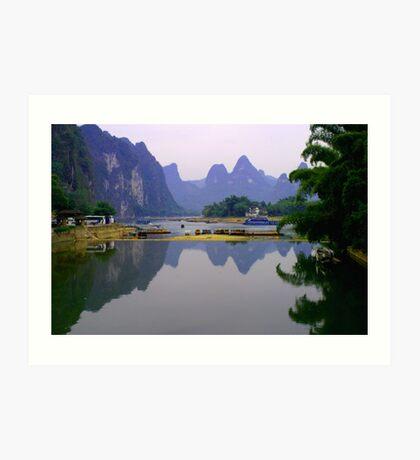 Fine art of Li River, China Landscape Art Print