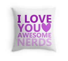 Awesome Nerds Throw Pillow