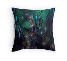 Nocturne (with Fireflies) Throw Pillow