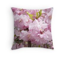 Tree Blossom Flowers Floral art prints Baslee Troutman Throw Pillow