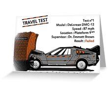 Travel Test Greeting Card