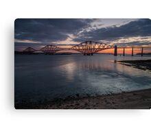 The Forth Bridge at sunrise Canvas Print