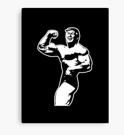 Donald Trump, Muscle Man Canvas Print