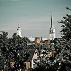 Steeples in Fredericksburg, Virginia by Stephen Graham