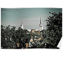 Steeples in Fredericksburg, Virginia Poster