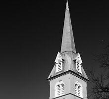 Steeple in Fredericksburg, Virginia by Stephen Graham