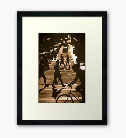 Flinders Lane - Melbourne Framed Print