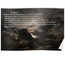 Darkness - Moody Clouds and Beautiful Poetry Poster