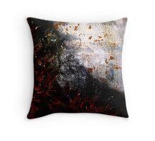 Burning Earth & Moon Throw Pillow