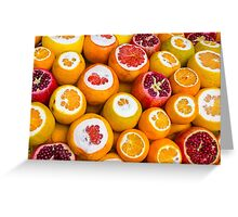 Oranges and pomegranates in Grand Bazaar Istanbul, TURKEY Greeting Card